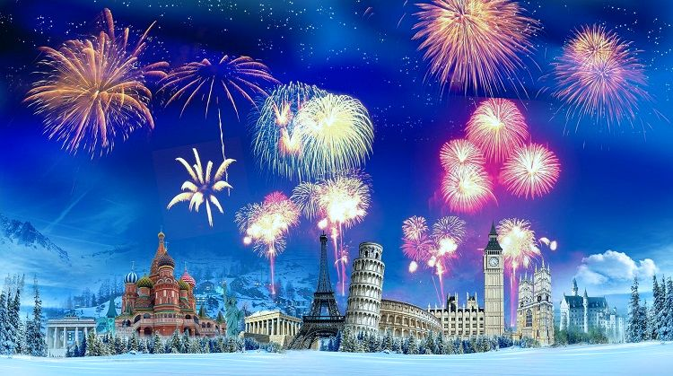 New year's travel around the world