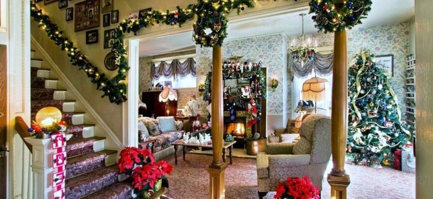 How to decorate a house for the New year